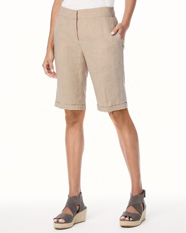 5af3bf5d438 EILEEN FISHER Organic-Linen Walking Shorts