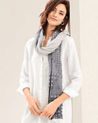 EILEEN FISHER Organic-Cotton Dot Scarf
