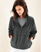 EILEEN FISHER Organic Cotton & Nylon Pullover Jacket