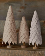 Felted-Wool Holiday Trees