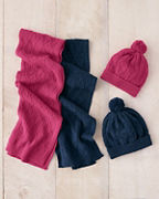 Girls' Cotton & Cashmere Cabled Hat
