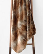 Plush Faux-Fur Throw