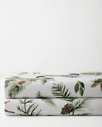 Chickadee and Pine Organic-Cotton Flannel Bedding