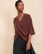 Recycled-Cashmere Twist-Front Sweater