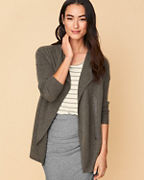 Recycled-Cashmere Zip Cardigan