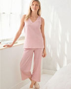 Organic-Cotton Cropped Tank Pajamas