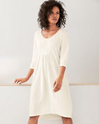 Organic-Cotton Pintucked Knit Gown