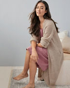 EILEEN FISHER Textured-Cashmere Sweater Robe