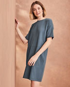 EILEEN FISHER Organic-Cotton Jersey Round-Neck Dress
