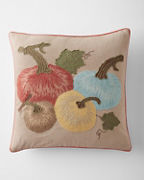 Embroidered Pumpkin Pillow