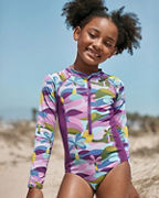 Girls' Wave Rider Long-Sleeve One-Piece Rashguard