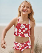 Girls' High-Waisted Ruffle Bikini Bottom