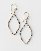 Robindira Unsworth Agate Hoop Earrings
