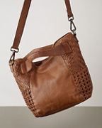 Latico Woven-Detail Cross-Body Bag