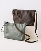 Rough & Tumble Pinched-Bottom Cross-Body Bag