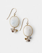 Mickey Lynn Moonstone Cluster Earrings
