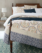 Floral Medallion Quilt and Sham