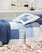 Indigo Blocks Quilt, Sham, and Pillow Cover
