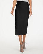 EILEEN FISHER Stretch-Crepe Slim Midi Skirt
