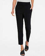 EILEEN FISHER Viscose Jersey Slouchy Ankle Pants
