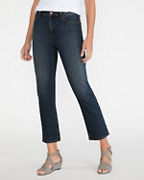 EILEEN FISHER Organic-Cotton Straight Ankle Jeans