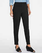 EILEEN FISHER Cotton-Stretch-Jersey Ankle Pants