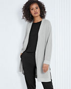 EILEEN FISHER Fine Organic Cotton & Silk Midi Cardigan