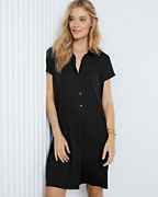 EILEEN FISHER Fine TENCEL™-Jersey Shirtdress