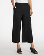 EILEEN FISHER Cotton-Jersey Straight Cropped Pants
