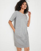 EILEEN FISHER Organic-Cotton Speckled Knit Dress