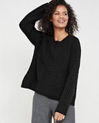 EILEEN FISHER Lofty Recycled-Cashmere Sweater