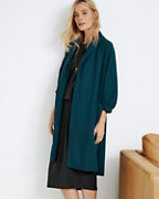 Eileen Fisher Boiled Wool Kimono Long Jacket