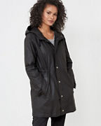 EILEEN FISHER Waxed-Organic-Cotton-Twill Hooded Coat