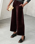 EILEEN FISHER Velvet Wide-Leg Ankle Pants