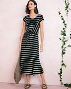 Tie-Waist Knit Midi Dress