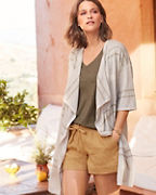 Easy Long Linen Cardigan