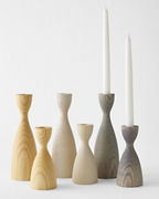 Farmhouse Pottery Turned-Wood Candlesticks