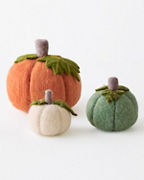 Felted-Wool Pumpkins