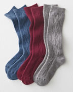 Wool & Cashmere Cabled Socks