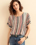 The Odells Striped Kimono-Sleeve Top