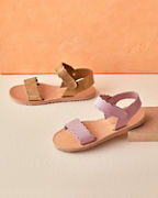 Girls' Scalloped-Edge Sandals