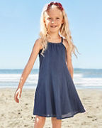 Girls' Cotton Gauze Cover-Up