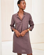 Linen Collared Popover Dress
