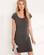 Square-Neck Knit Dress