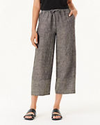 Banded Linen Beach Pants