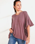 V-Neck Batwing Tunic