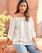 Off-the-Shoulder Gauze Blouse