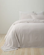 EILEEN FISHER Rustic Organic-Cotton & Linen Bedspread and Sham
