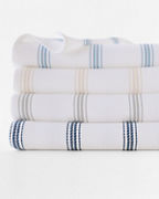 Cottage Stripe Cotton Blanket and Throw
