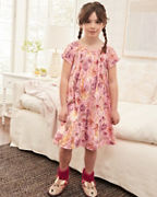 Girls' Smocked Ruffle Short-Sleeve Nightgown